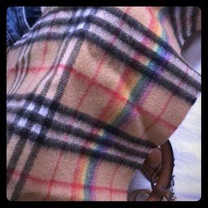 Burberry rainbow scarf